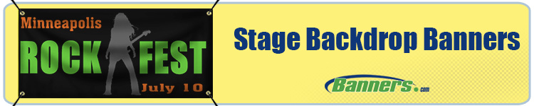 Custom Stage Backdrop Banners from Banners.com
